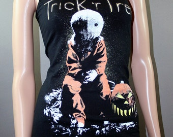 Trick 'R Treat Sam Tank Top T Shirt Vest Halloween Horror Movie Pumpkin Goth