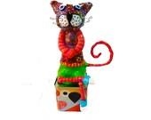 Shelf sitter, cat art, cat sculpture shelf sitter, cat, Cat gift, cat lover, collectible cat, cat design,whimsical cat, Israeli art