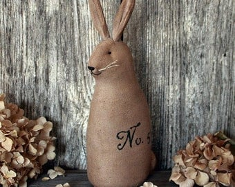 Primitive Bunny Rabbit, Vintage Style Rabbit, Easter Rabbit, Farmhouse Decor, Rabbit Decor,