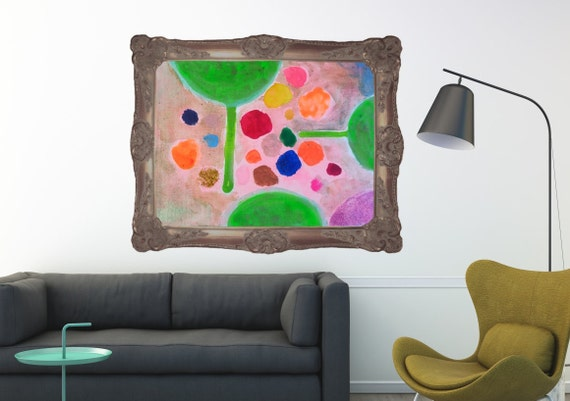Large Art Print Quirky Fun Wall Art Home Decor Abstract Modern Art Contemporary