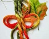 "Size 20 ""Sugar Maple"" hand dyed thread 6 cord cordonnet tatting crochet cotton"
