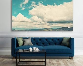"landscape photography, large art, large canvas art, large wall art, clouds, mountains, summer, panoramic, nature photography - ""Elevation"""