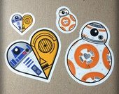 Droid BB-8 Inspired Sticker Sheet