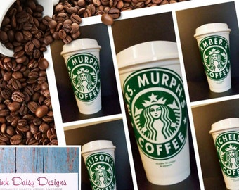 Personalized Starbucks Cup, Travel Mug, Reusable Starbucks Cup, Coffee Mug, Tea Mug, Teacher Gift, Custom Coffee Cup
