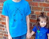 Kids Youth Shirt, Cute Shirt, Girls, Boys Youth Shirt, Cool Kids Shirt, Cute Kids Clothes, Trendy Hipster Kids Shirt, Narwhal Graphic Tee