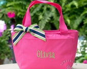 Personalized Name Lunchbox - School Monogrammed Customized Bag Insulated kids childrens Lunch Box Girls Boys