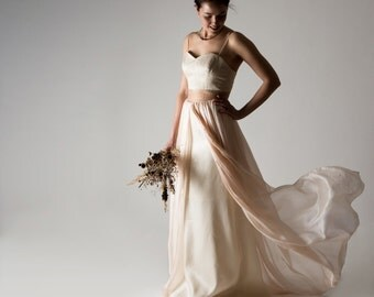 Wedding dress, Boho wedding dress, Bohemian wedding dress, Blush wedding dress, Color wedding dress, Alternative wedding dress, Bohemian