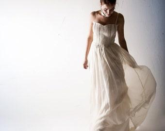 Wedding dress, Bridal gown, Boho wedding dress, Beach wedding dress, gypsy wedding dress, Chiffon wedding dress, Alternative wedding dress