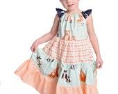 Girls Deer Dress- Girls Bear Dress- Girls Forest Dress