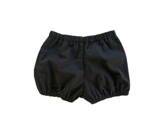 black cotton baby / toddler bloomers