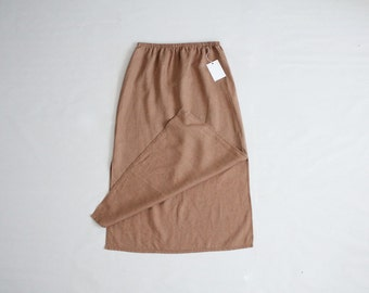 baggy linen skirt | pale copper skirt | long linen skirt