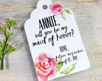 Wine Tag - Will You Be My Maid of Honor?