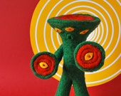 Print: Six Eyed Bandel - Needlefelting Felt Plush Toy Sci-Fi Monster Japanese Kaiju Photograph