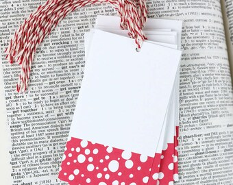 Coral Spot Tags - set of 12