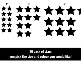Stars wall stickers - children wall decals - nursery star wall decals star stickers home decor