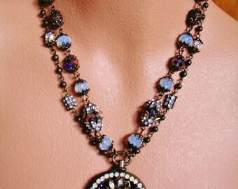 NIGHT SKY statement necklace