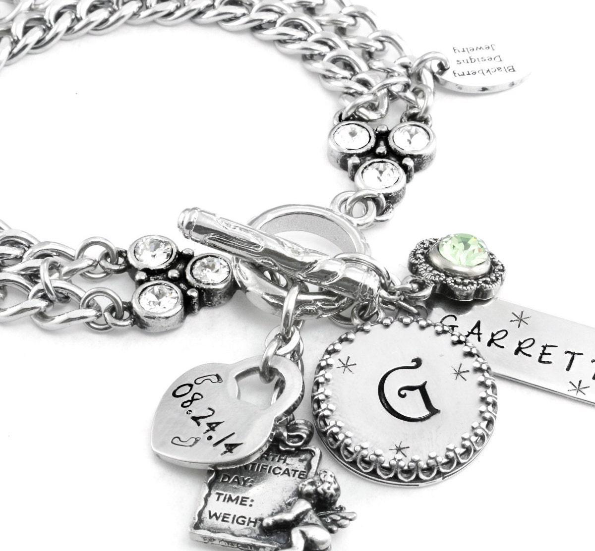 Baby Charm Bracelets: New Mom Custom Jewelry Baby Girl Bracelet Custom Baby