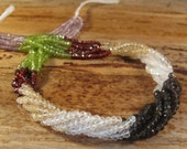 Gemstone Rondelle Mix, Natural Gemstone Beads, Peridot, Garnet, Amethyst, Quartz, Citrine Mix, 14 Inch Strand, over 140 beads (R-Mix4)