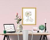 Soft Romance Decorative Illustration Art Poster