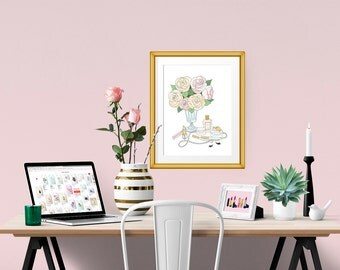 Soft Romance Decorative Illustration Art Poster