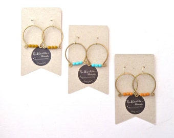 Wire Horseshoe Earrings // Yellow Ochre // Hoop Earrings // Western Earrings // Classic Earrings // Gifts for Women // Gifts for Her