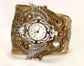 Steam punk Watch Men Women Wrist Watches Bracelet Steam punk Jewelry time lord cuff watch