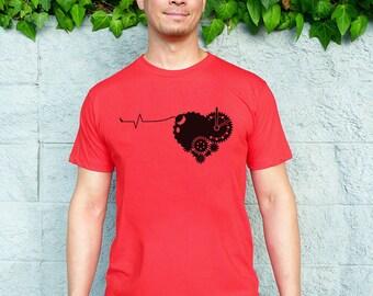 Valentine Shirt, Valentine's Day T-shirt - Red Heart Shirt, Love Men's T-shirt, Boyfriend Gift, Husband Gift - Tender Time Bomb Tee