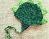 Baby Dino Hat in Green