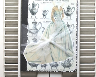 Wedding Guest Book, Vintage Wedding Planner, Bridal Journal, Spring Bride