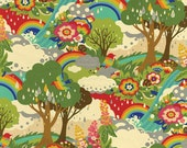 Japanese Fabric, Cotton Fabric by the Yard, Nature fabric, Tree fabric, Forest fabric, Bird Fabric, Flying Colors by Momo, Choose your cut