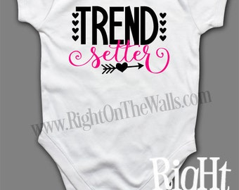 Trend Setter Short Sleeve One Piece Toddler Shirt Babies T-Shirt tshirt