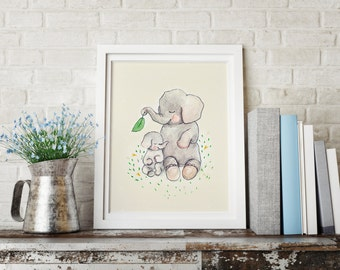 Childrens Wall Art Print I love you, Mothers love
