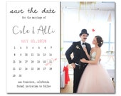 Calendar Save the Dates.  Photo save the date cards. Save the Dates.