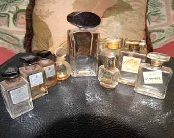 Paris France Perfume Bottles Lanvin, Chanel, Molyneux, Rochas 9, French Bottles, Elan Coty