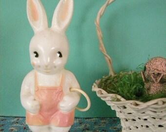 Vintage Irwin Plastic Baby Rattle Easter Bunny Rabbit Toy