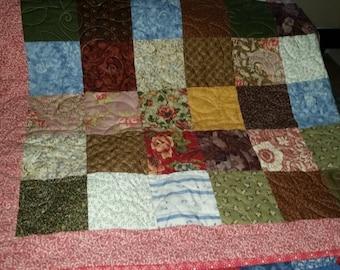 Handmade Scrappy Quilt 50 x 57
