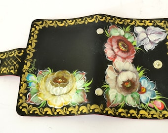 Hand Painted Card Holder - Business Card Wallet