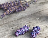 Lavender Glass Beads Bulbous Buds Style set of two small beads