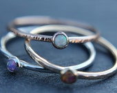 Create your own opal stacking ring - stackable ring - delicate opal ring - sterling silver - gold filled - rose gold filled - dainty