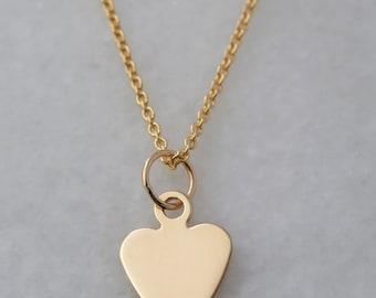 Add a 14k Yellow Gold Heart