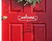 Welcome Decal house Door Sign Welcome Door decals Front door decoration Porch Decor Office Door decal sign Welcome Door Decals Farmhouse