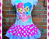 Girls Shimmer and Shine Dress 2T 3T 4T and 5T ready to ship