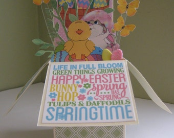 Easter pop up card in a box
