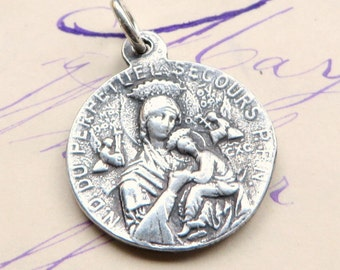 Our Lady of Perpetual Help / St Gerard Majella medal - Antique Reproduction