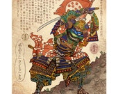 Samurai Turtle- Leonardo 11 x 14 print