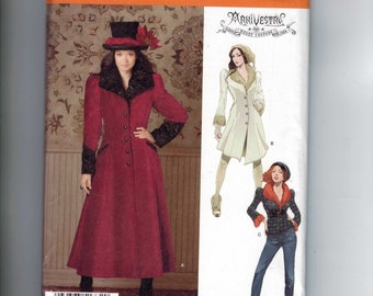 Misses Sewing Pattern Simplicity 1732 Misses Archivestry Haunt Couture Victorian Steampunk Coat Jacket 6-14 or 14-22 Multisize UNCUT