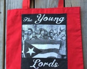 Tote bag, Young Lords Party, Puerto Rican Nationalist Group, Red,  READY TO SHIP