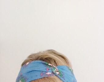 topTwist Headband - Turban Headband - Soft Stretch Fabric - Aqua Headband - Hairband - Headwrap - Twisted Headband