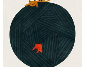 The yarn ball big print