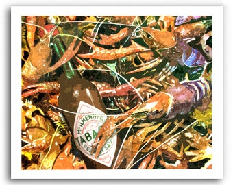 """Tabasco Sauce Art """"Where Da Hot Sauce At?"""" Prints Signed and Numbered"""